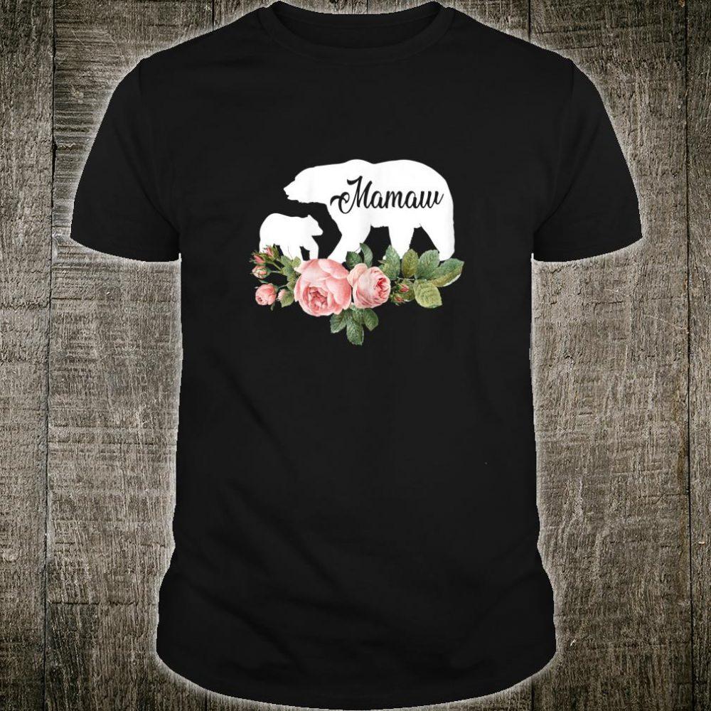Mamaw Bear Flowers Mother's Day Cute Shirt