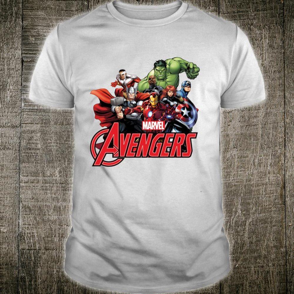 Marvel Avengers Group Shot Logo Shirt