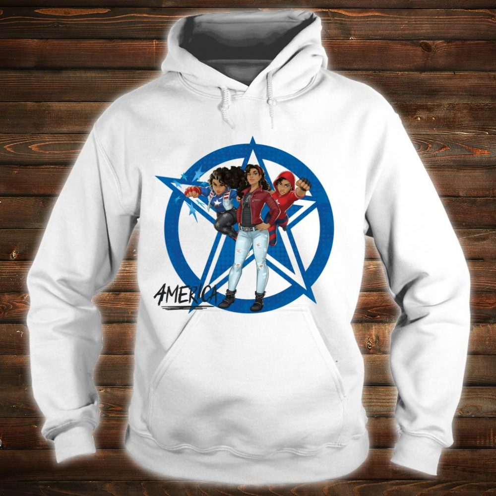 Marvel Rising Secret Warriors America Chavez Costumes Shirt hoodie