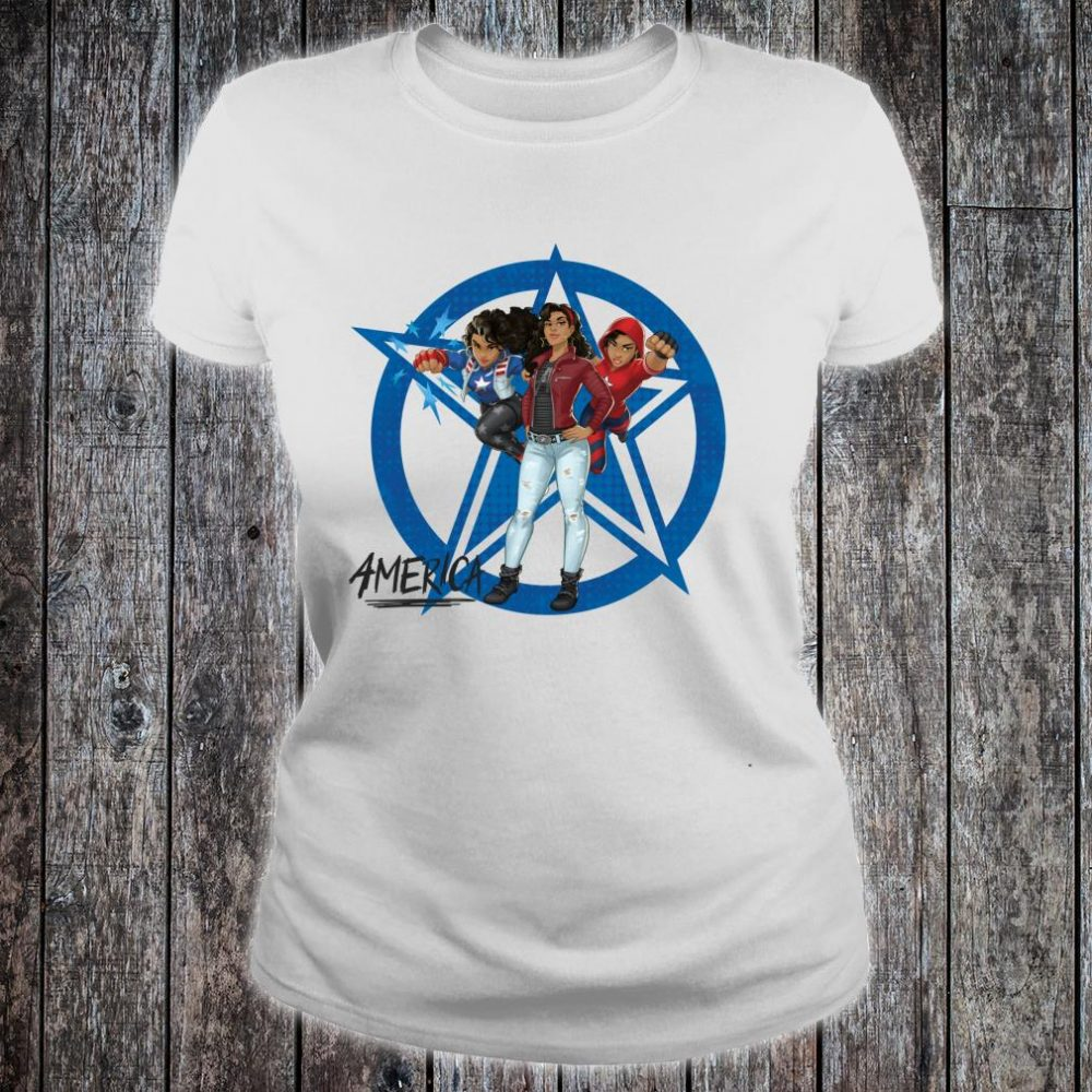 Marvel Rising Secret Warriors America Chavez Costumes Shirt ladies tee