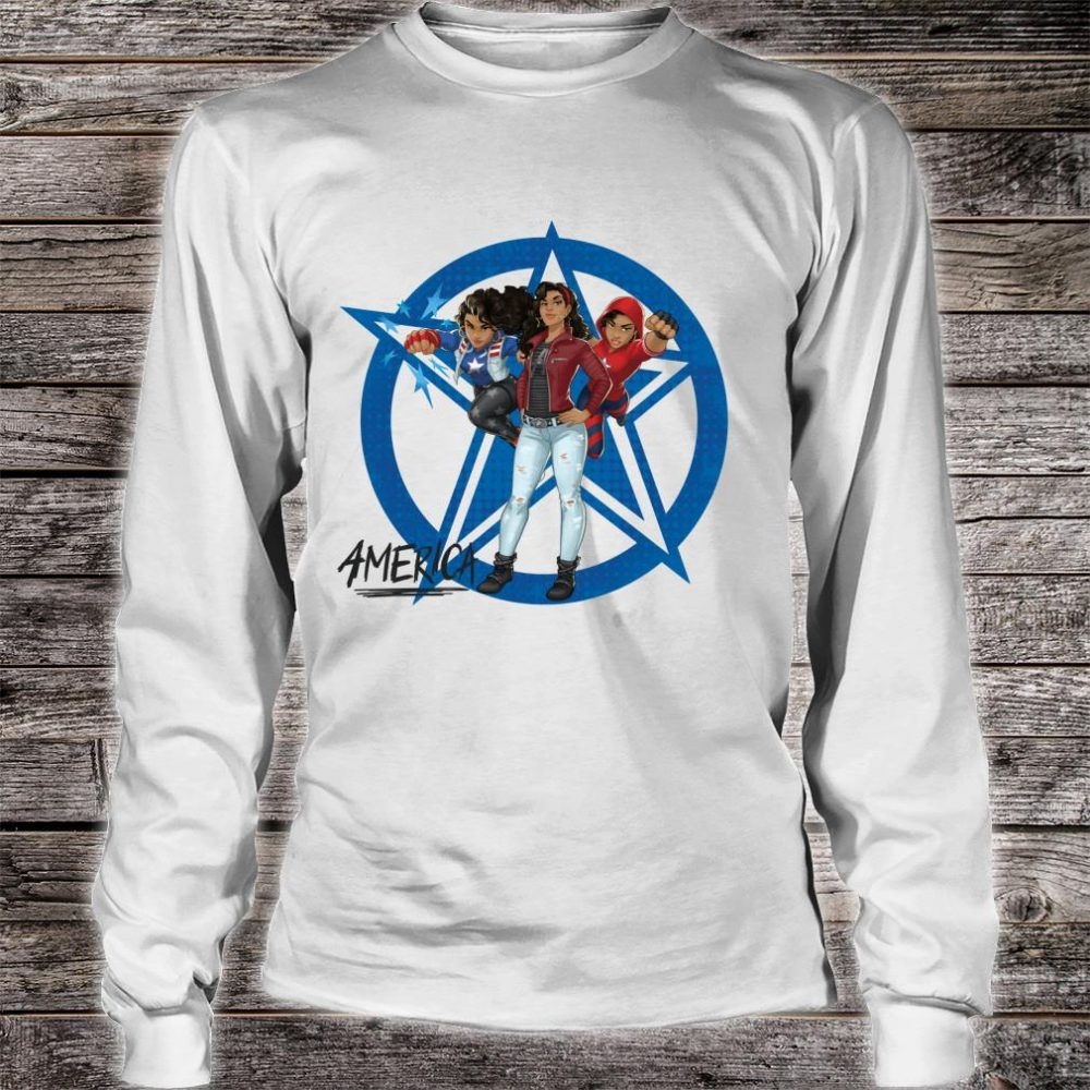 Marvel Rising Secret Warriors America Chavez Costumes Shirt long sleeved