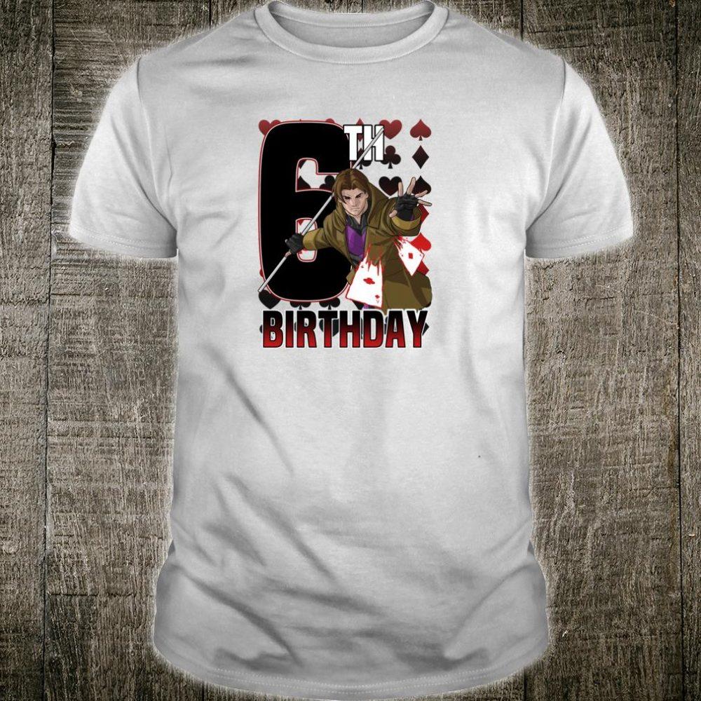 Marvel XMen Gambit Card 6th Birthday Shirt