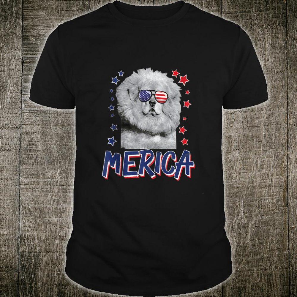 Merica Tibetan Mastiffs Dog 4th Of July USA Shirt