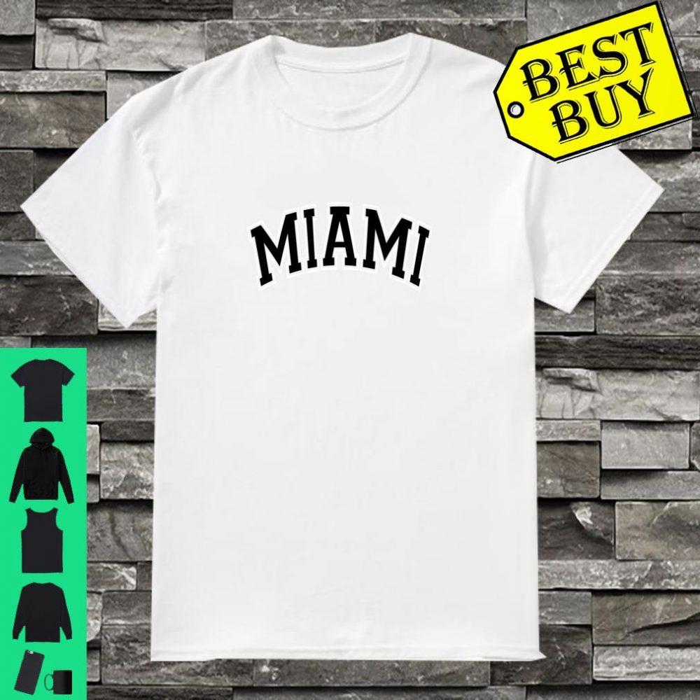 Miami Varsity Style Black Text Shirt