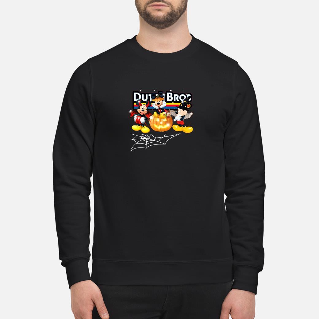 Mickey costume in Halloween dutch bros shirt sweater