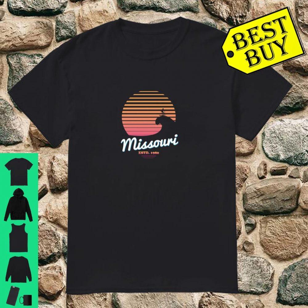 Missouri Surfing Retro Novelty Gag Gift Joke Surf Humor Gift Shirt