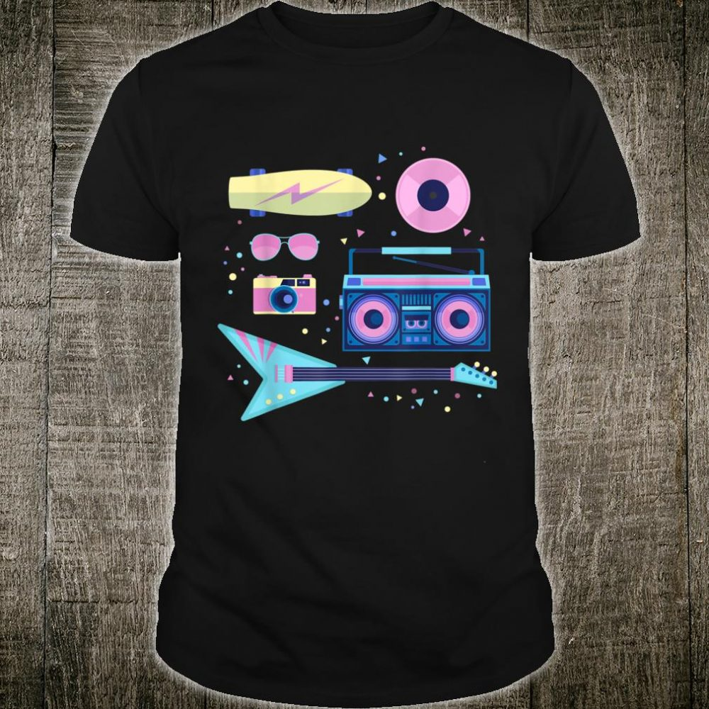 Mixtape Retro Music 80s and 90s Guitarist Musician Shirt