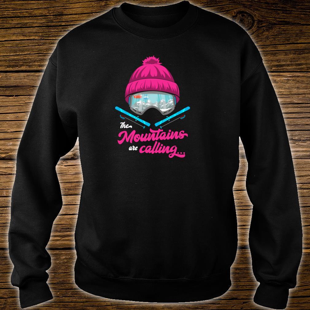 Mountains Are Calling Ski Goggles Skier Apres Ski Ladies Shirt sweater