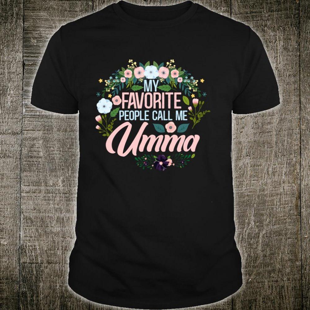 My Favorite People call me Umma, Xmas MomGrandma Shirt