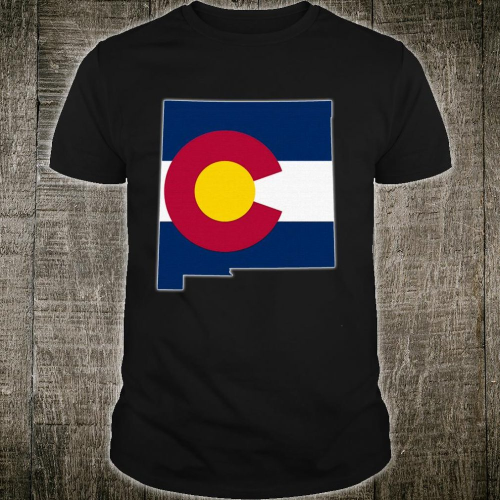 NEW MEXICO STATE MAP COLORADO CO Flag Roots Shirt