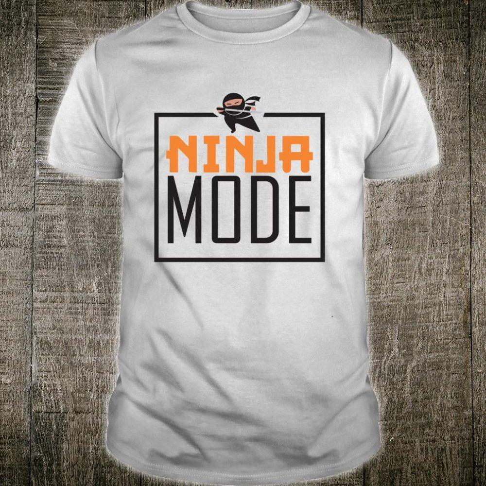 Ninja Mode ninja birthday party Shirt