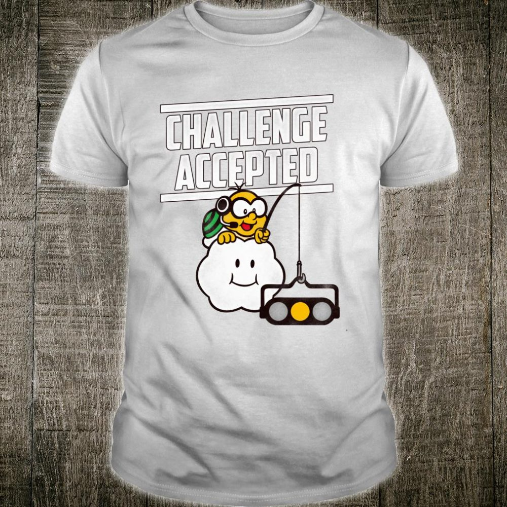 Nintendo Mario Kart Challenge Accepted Text Shirt