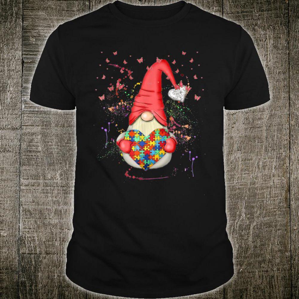 Nordic Gnomes Costume Puzzle Piece Autism Awareness Month Shirt
