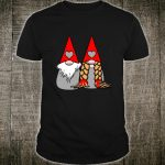 Nordic Gnomes Red Grey Couple Hearts Love Shirt