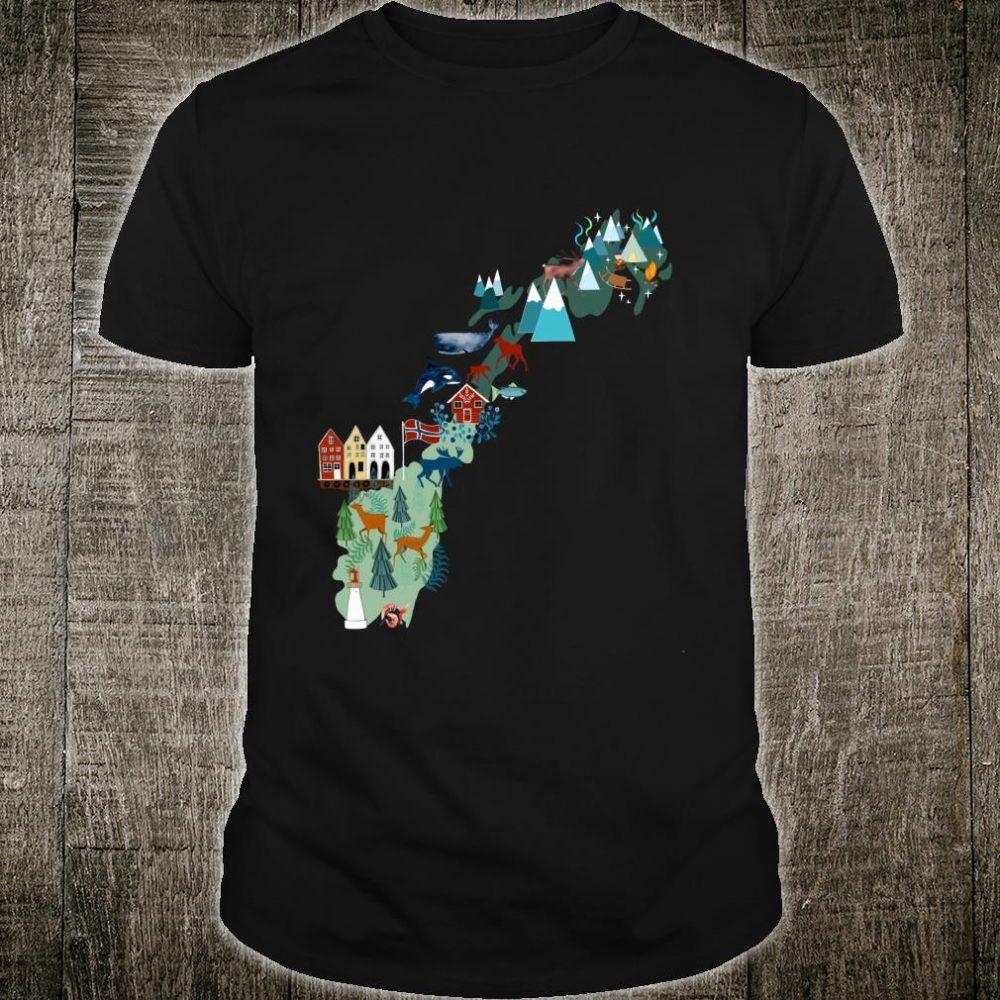 Norwegen Karte Souvenir Shirt