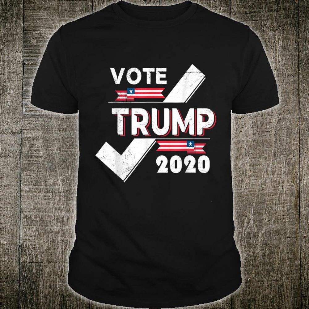 Novelty Vote Trump 2020 Presidential Election Slogan Shirt