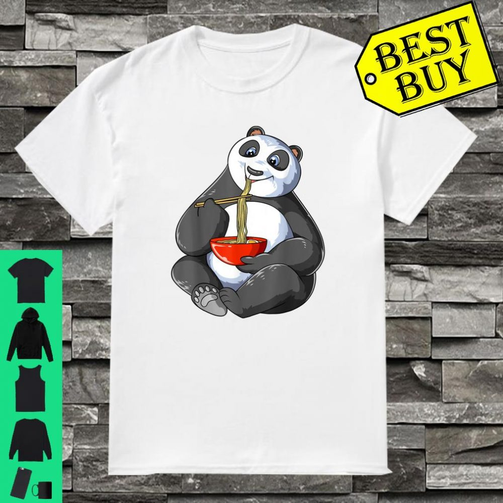 Panda Eating Ramen Noodles Kawaii Japanese Panda Shirt
