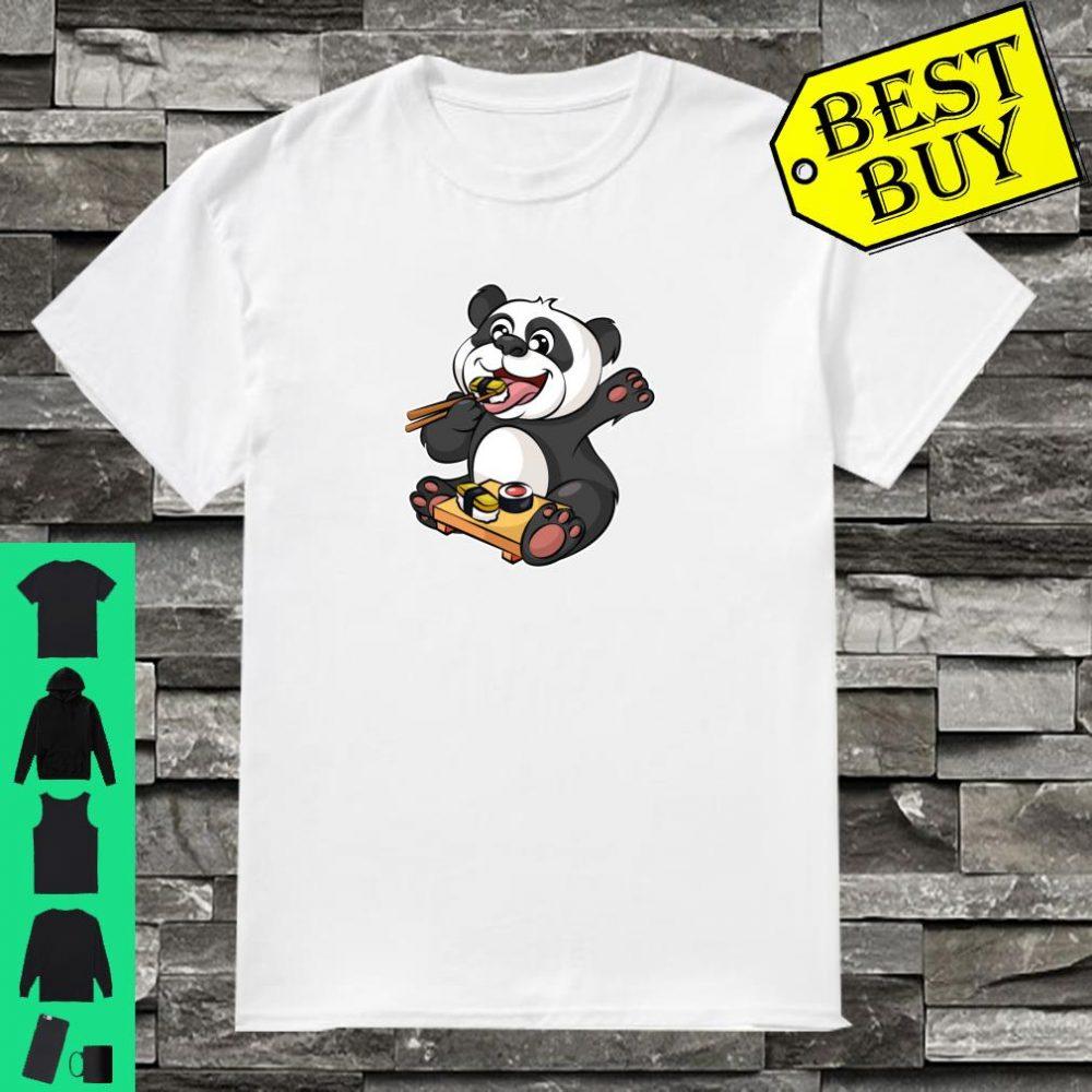 Panda Sushi Bear Eating Raw Fish Japan Shirt