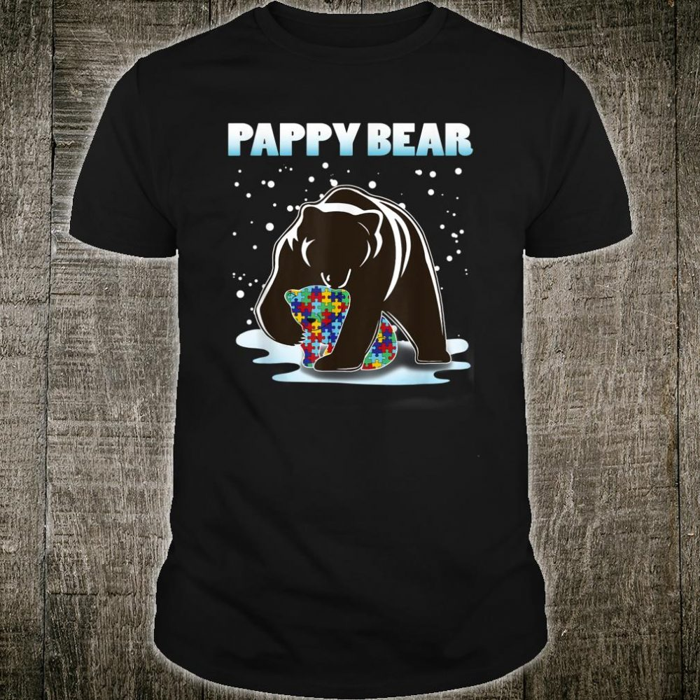 Pappy Bear Bear Autism Awareness For Dad With Son Or Shirt