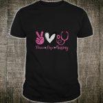 Peace Love Nursing Nurse for Girls Shirt