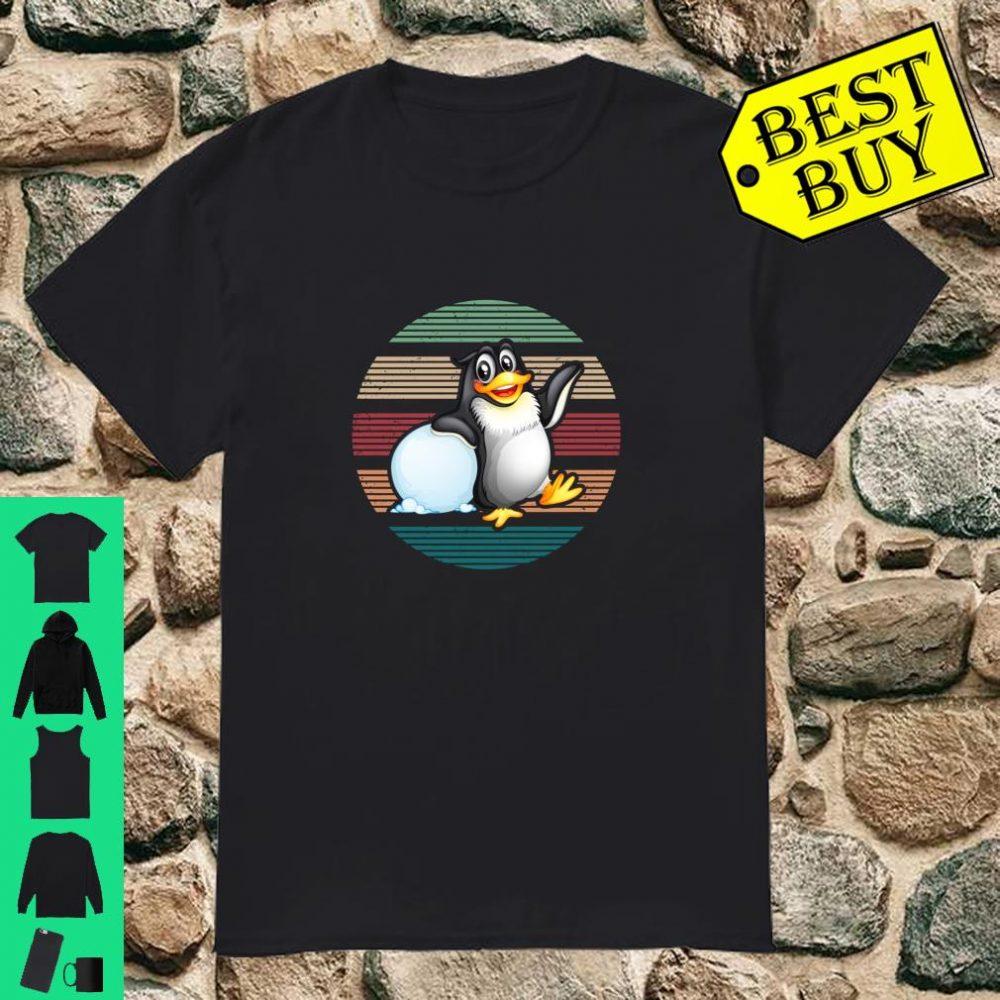 Penguins Bird Gift Vintage Retro Penguin shirt