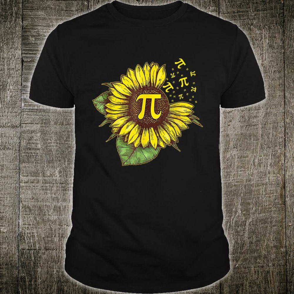 Pi Day Shirt Sunflower 3,14 Pi Number Symbol Math Science Shirt