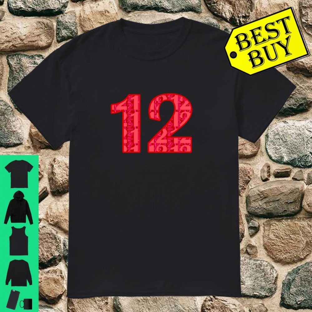 Pink Number #12, Girls 12th BDay Party 12 Years Old Shirt