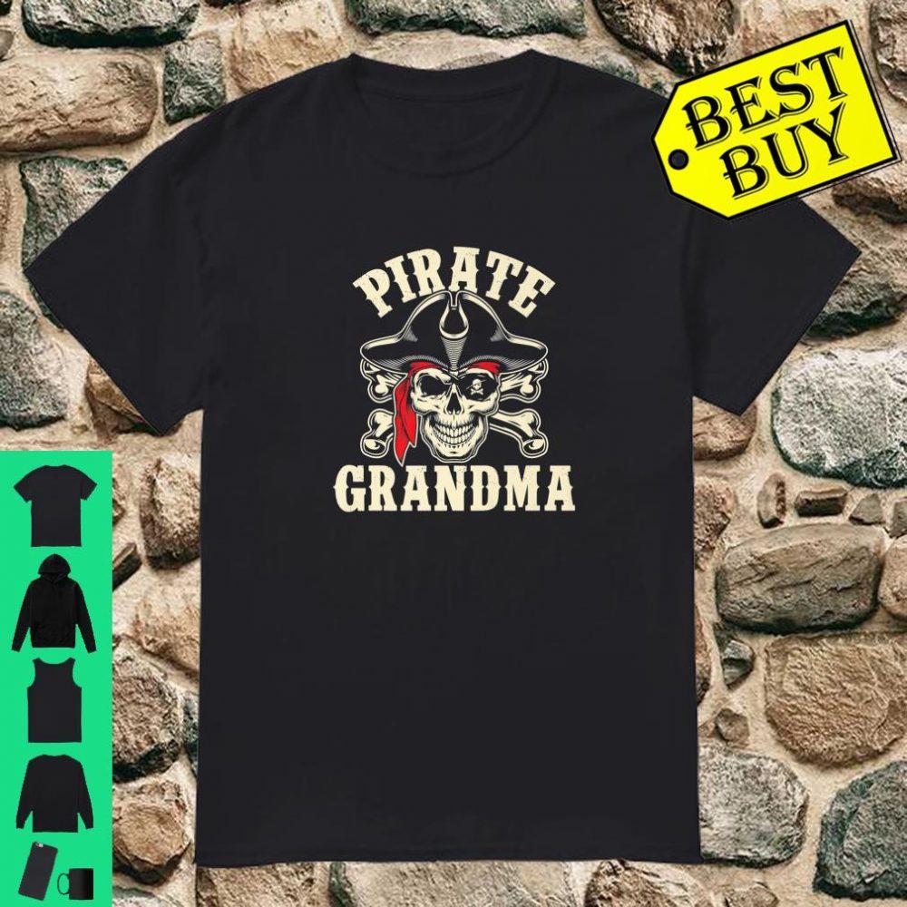 Pirate Grandma Red Bandana Skull Pirate Gift Shirt