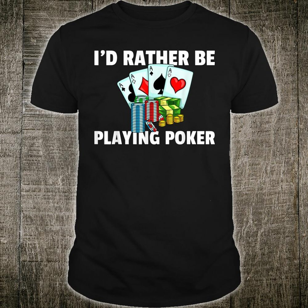 Poker Texas Hold Em All In Player Shirt