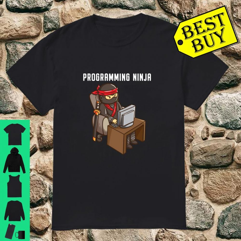 Programmer Ninja Programming Coding Nerd Boys Gifts shirt