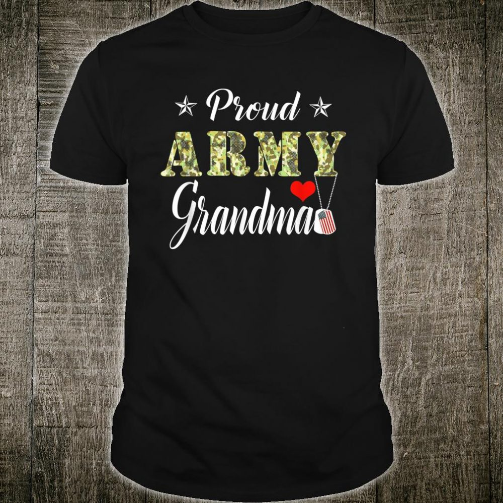 Proud Army Grandma Camouflage Army Grandma Shirt