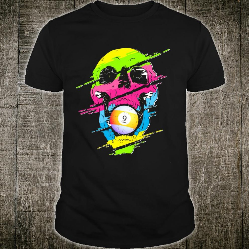 Psychedelic Skull Billiards Colorful Shirt