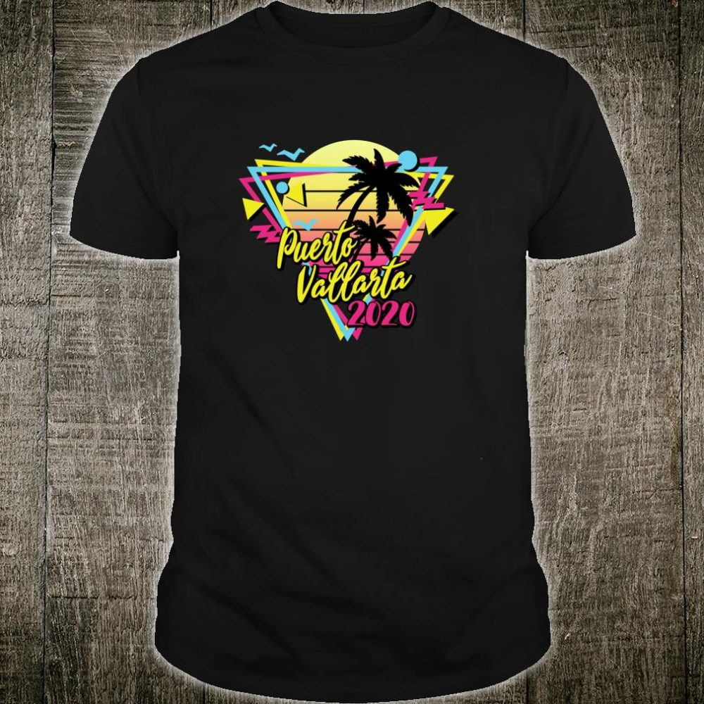 Puerto Vallarta 2020 Retro Vacations Beach 80s 70s Shirt