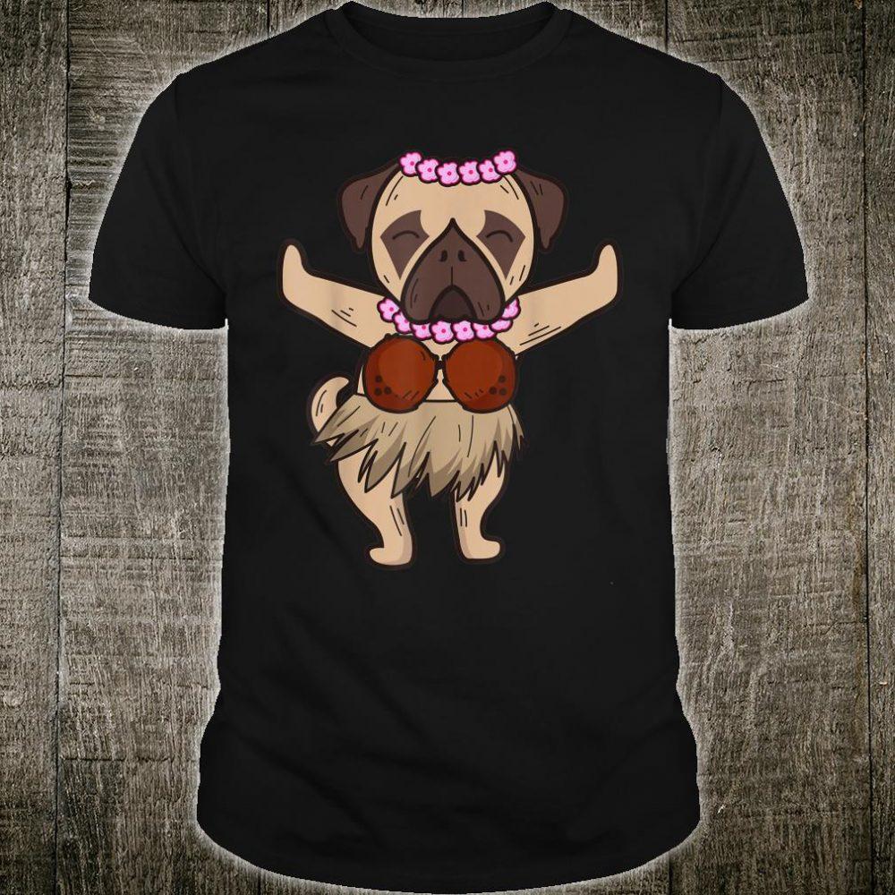 Pug Hawaiian Hula Dance Cool Aloha Animal Shirt