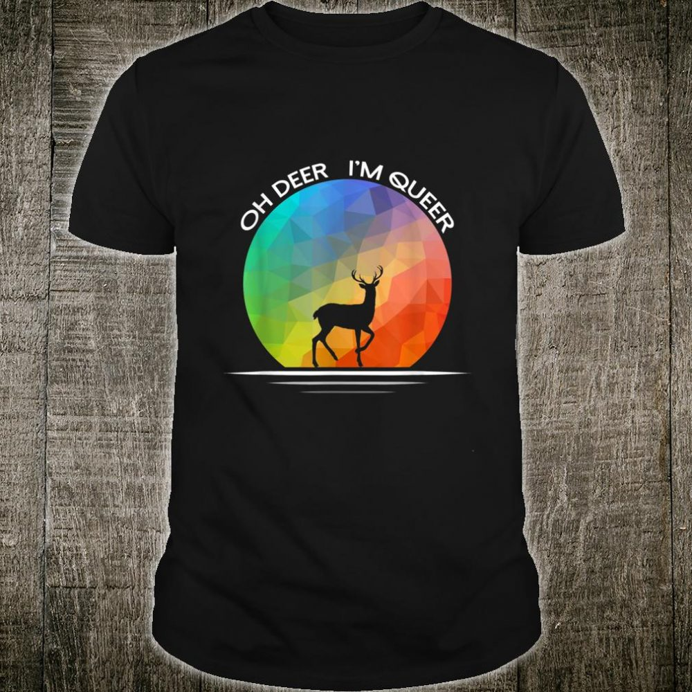 Queer Rainbow Flag Pride Month Gay Lesbian Transgender LGBT Shirt