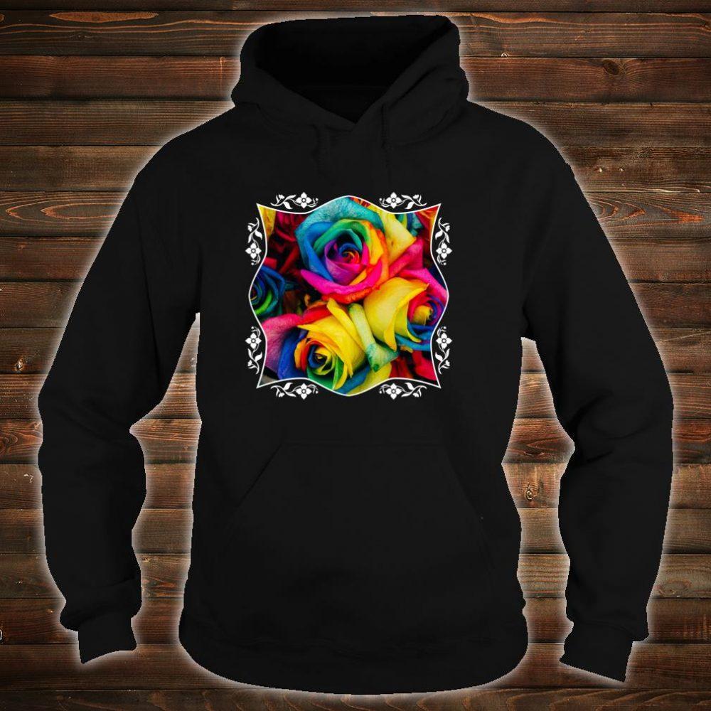 Rainbow Roses Colorful Pink Purple Blue Yellow Flower Pride Shirt hoodie
