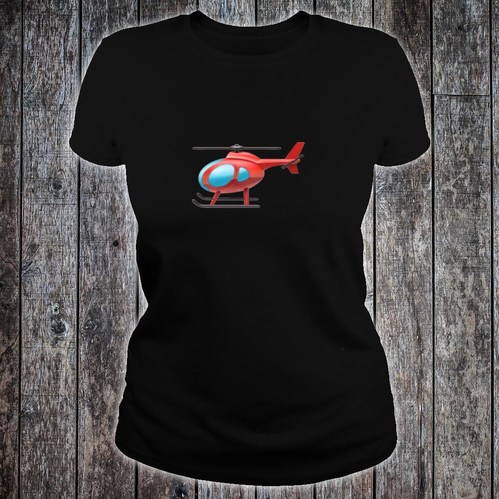 Red Helicopter Shirt ladies tee