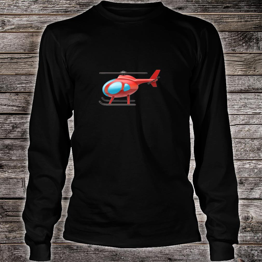 Red Helicopter Shirt long sleeved