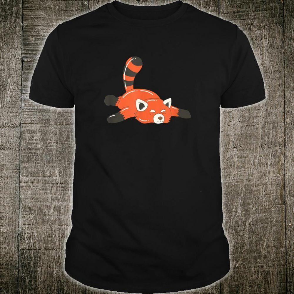 Red Panda Cute Lazy Animal To Do List Shirt