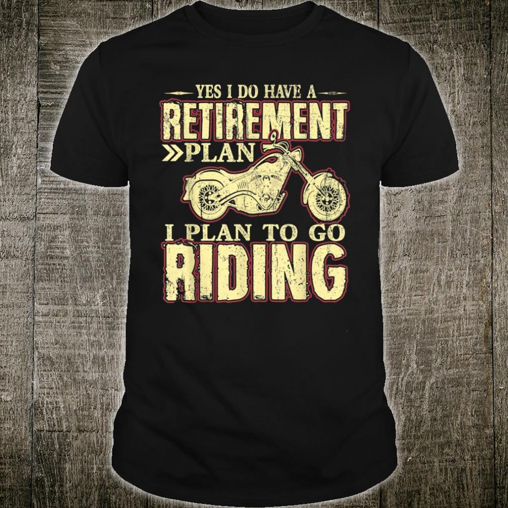 Retirement Gift Shirt Motorcycle Riders Biker Shirt