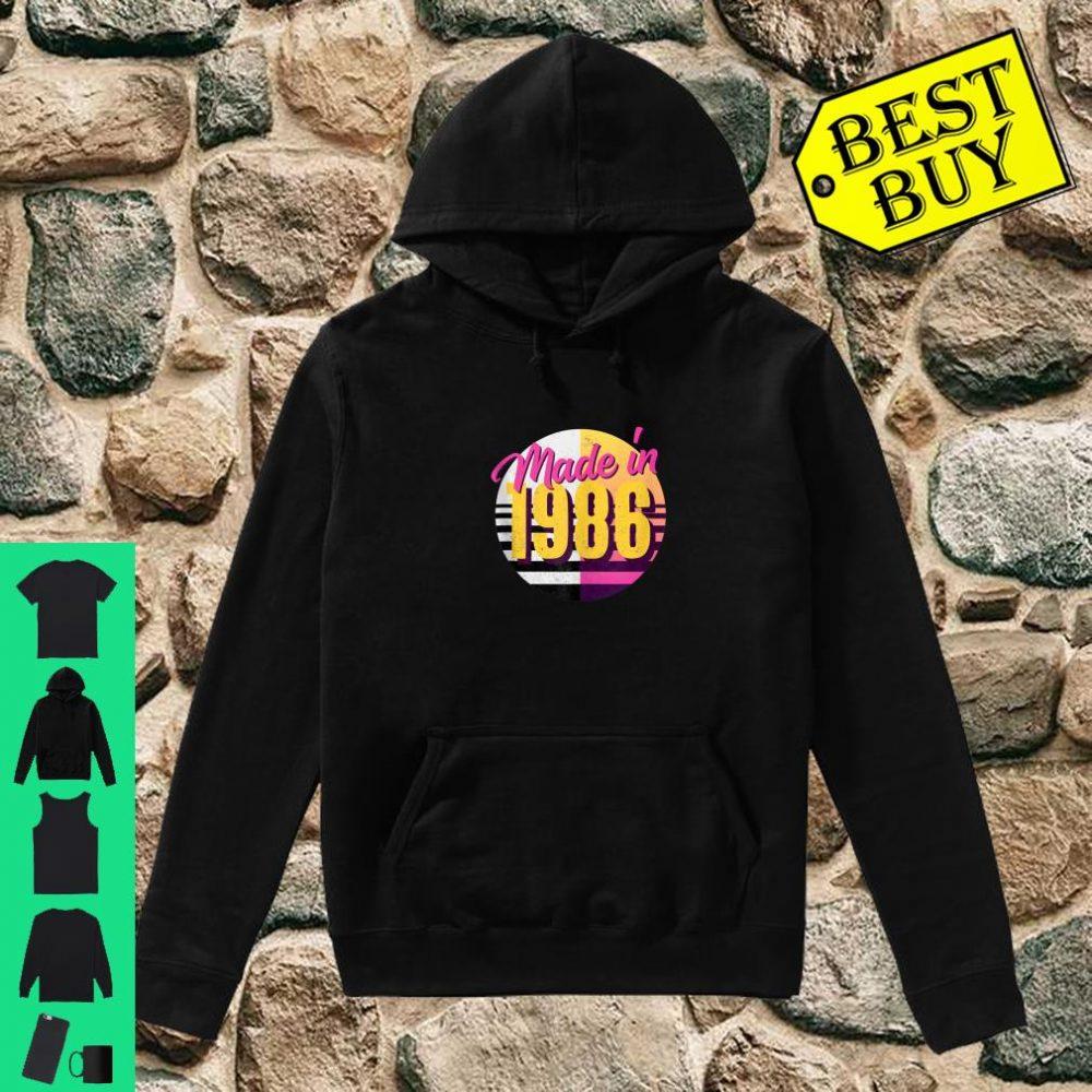 Retro 1986 80s Style 34th Birthday Shirt hoodie