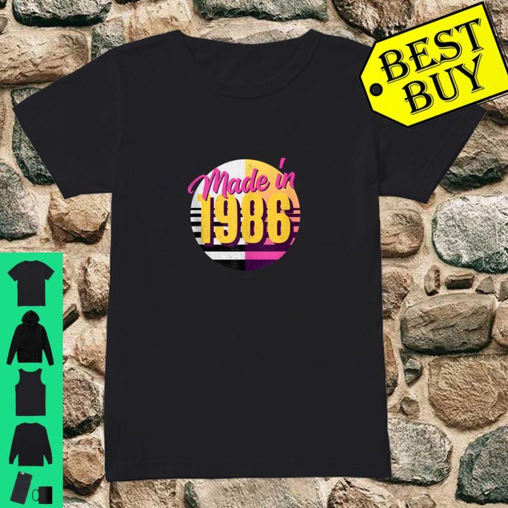 Retro 1986 80s Style 34th Birthday Shirt ladies tee