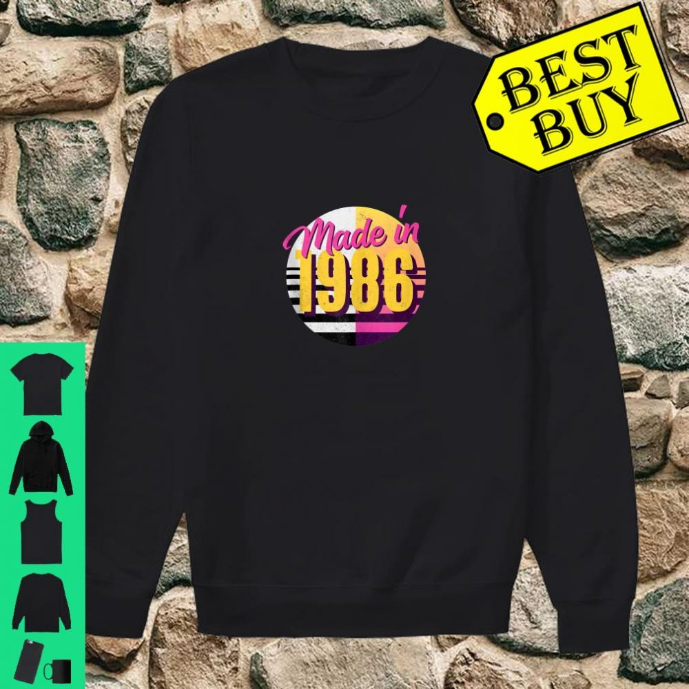 Retro 1986 80s Style 34th Birthday Shirt sweater