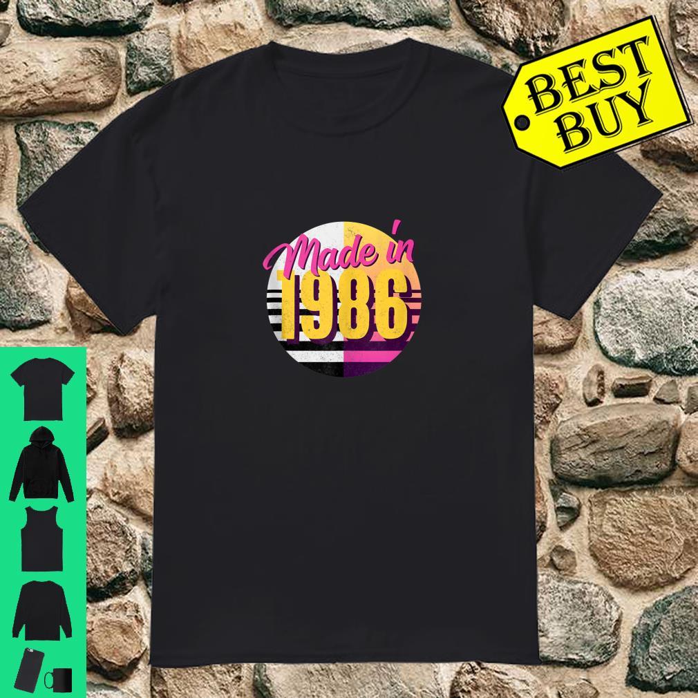 Retro 1986 80s Style 34th Birthday Shirt