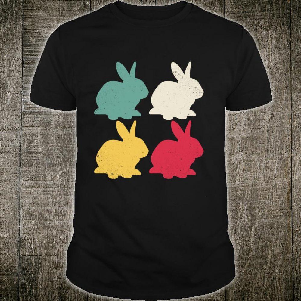 Retro Easter Bunny Rabbit Vintage Dad Shirt