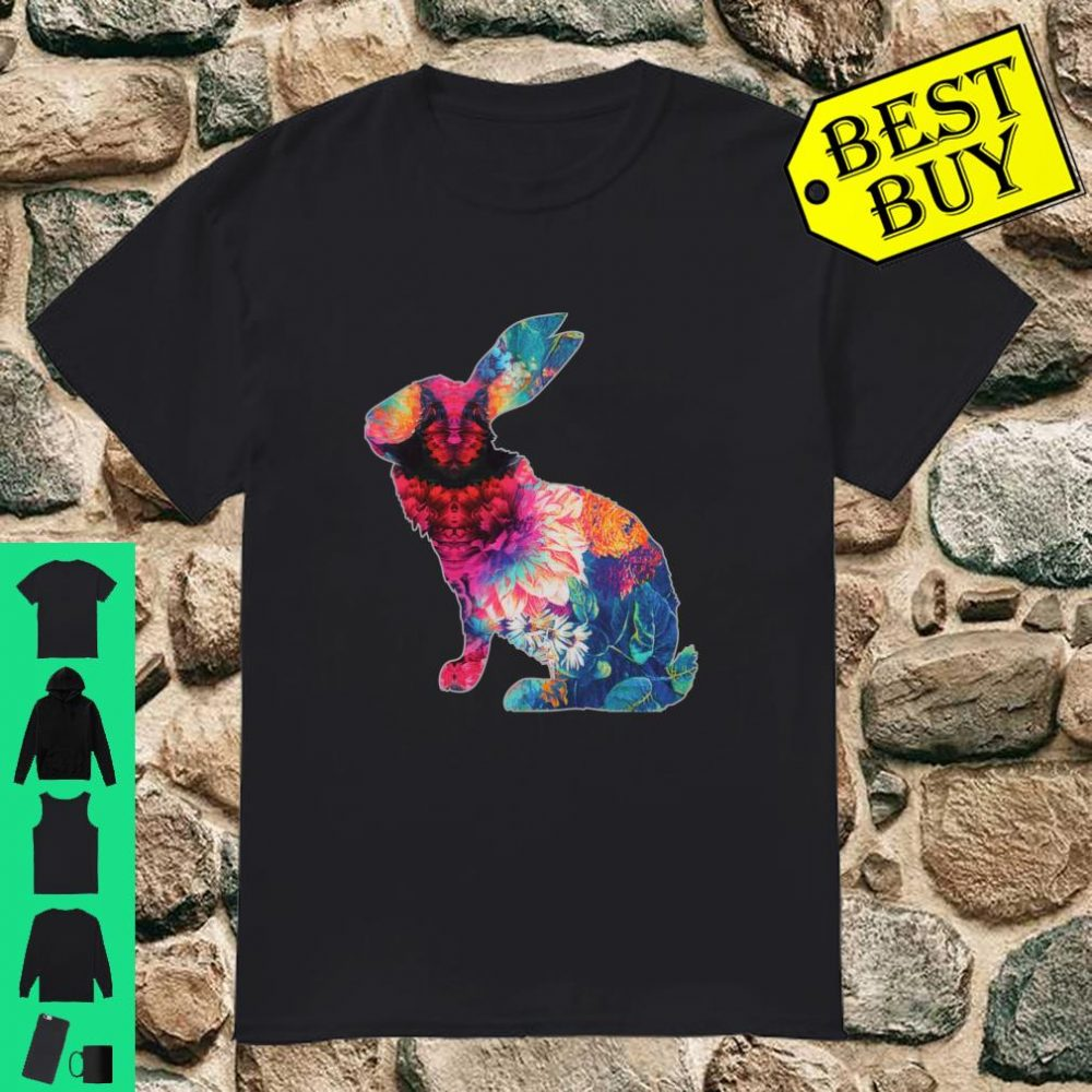 Retro Easter Bunny Vintage Floral Shirt