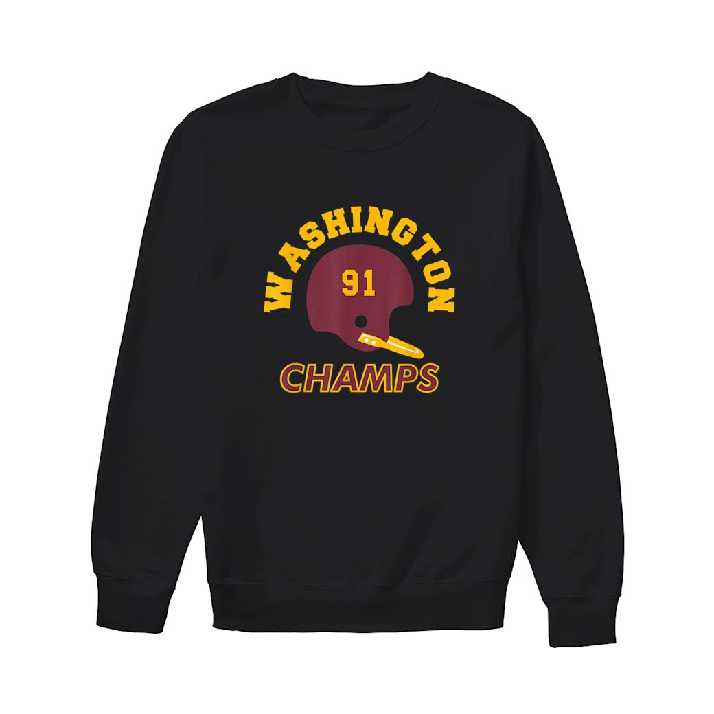 Retro Washington Football Helmet Vintage DC 91 Champs Shirt sweater