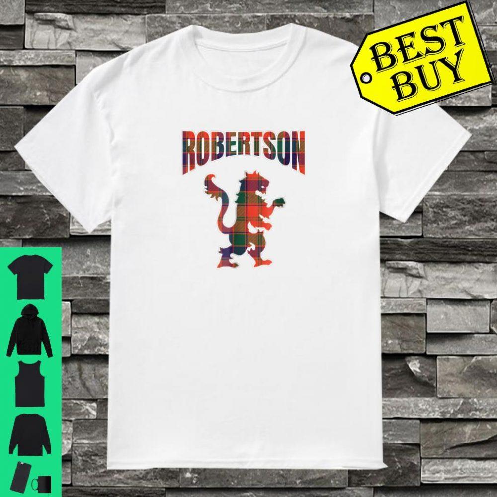 Robertson Clan Kilt Tartan Shirt Lion Namesake Scottish shirt