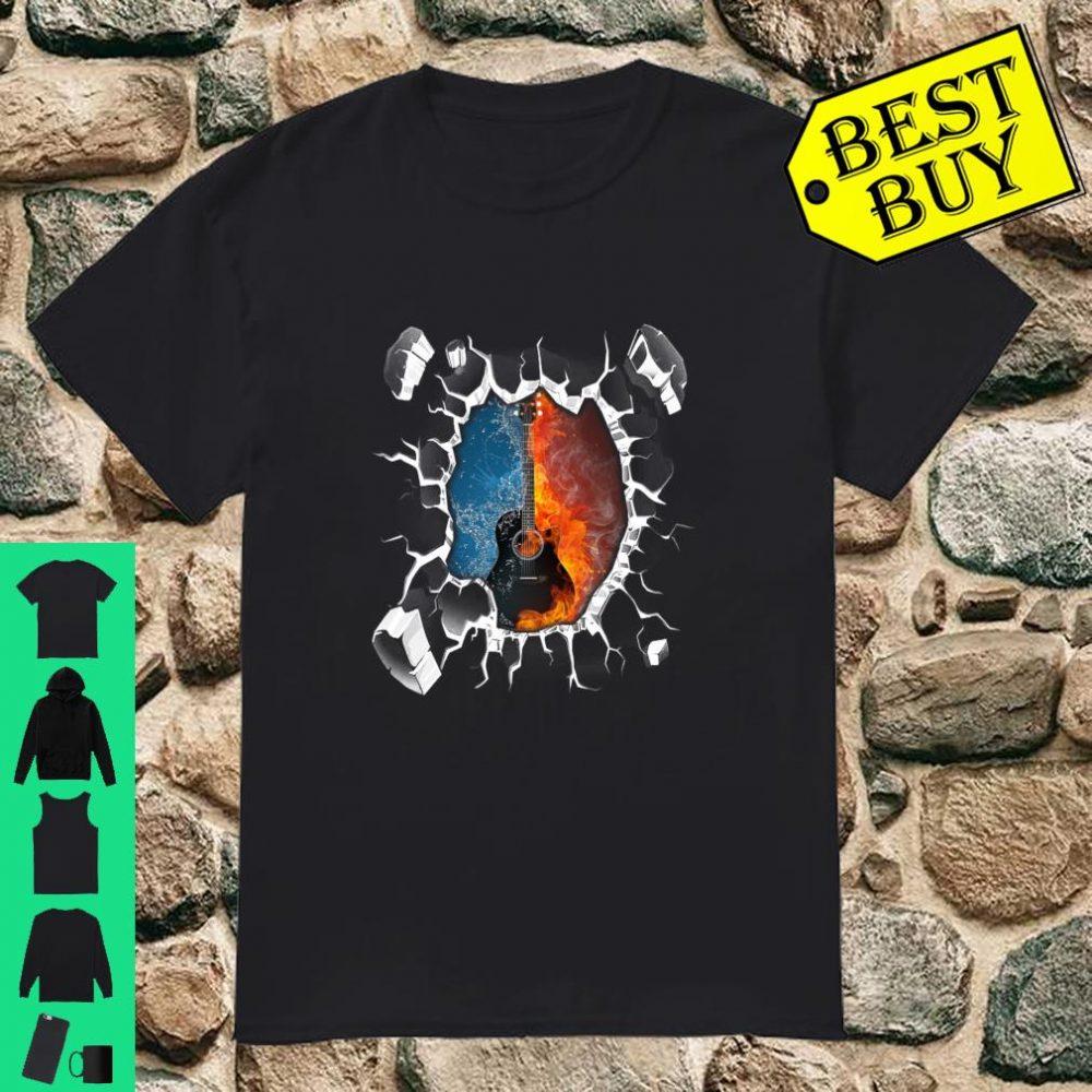 Rock Guitar on Fire Shirt