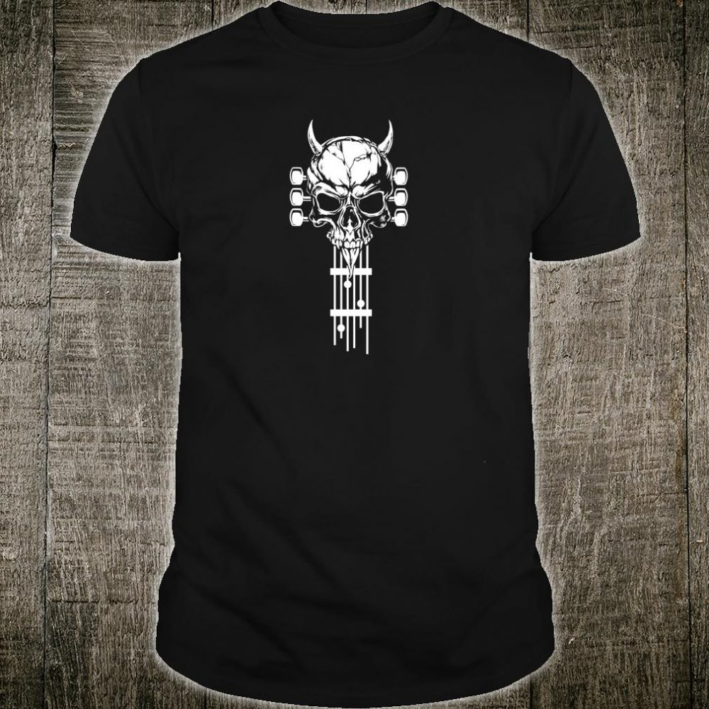 Rock & Roll Skull Skeleton Guitar Music Shirt
